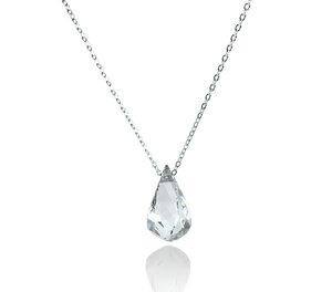 925er Sterling Silber Kristall-Kette Nude Helix Silver - JuliaPilot