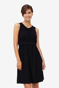 schwarzes Umstandskleid und Stillkleid aus Bambus - milker nursing