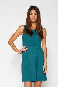 grün-blaues Umstandskleid und Stillkleid aus Bambus Gr. L - milker nursing