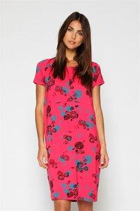 pinkes Umstandskleid und Stillkleid mit Blumen aus Bambus - milker nursing