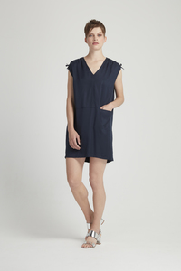 Alison Tunic Dress Navy - People Tree
