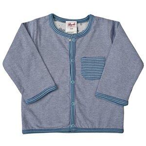 Wendejacke - blau grau geringelt - People Wear Organic