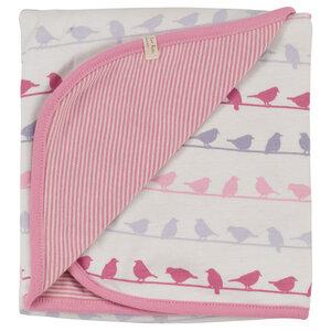 Babydecke Wendedecke rosa Vögel GOTS zertifiziert - pigeon organics