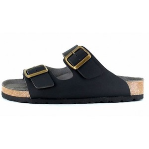 Two Strap Sandal Black - Vegetarian Shoes