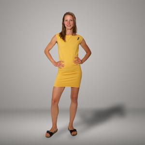 'Eine Ameise' Bio-Kleidchen in Maisgelb - shop handgedruckt