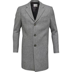 Wool Coat - Phantom - KnowledgeCotton Apparel