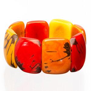 Tagua Armreif Armband rot/Orange - Bea Mely