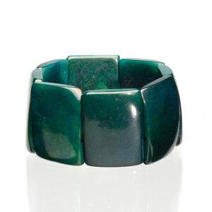 Tagua Armreif Armband dunkelgrün - Bea Mely