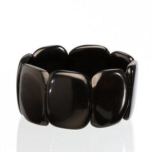Tagua Armreif Armband schwarz - Bea Mely