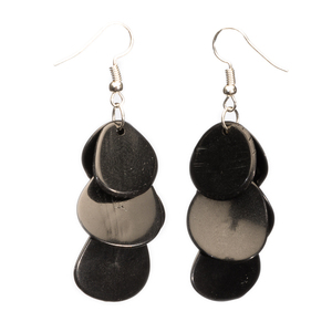 Tagua Chips Ohrring schwarz - Bea Mely