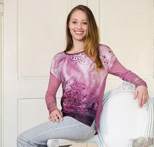 Blusen-Shirt Brombeer-Sahne langarm - The Spirit of OM