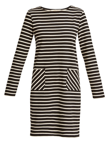 Harper Stripe Tunic Black - People Tree