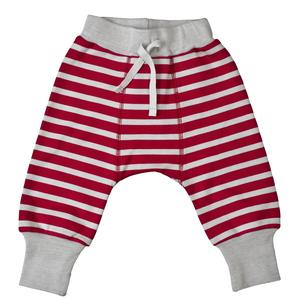 Babyhose - rot geringelt - People Wear Organic