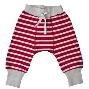 Babyhose - rot geringelt - People Wear Organic