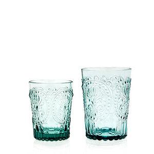 Trinkglas Fleur-de-Lys blau - Van Verre