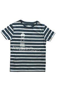 Gestreiftes Kinder T-Shirt 'Papierhafen' Biobaumwolle & Fair Wear  - ilovemixtapes