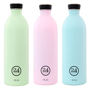 1l Edelstahl Trinkflasche Pastell - 24bottles