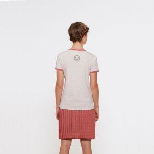 T-Shirt aus Bio-Baumwolle Espalmador Cranberry - Bohemian Heads