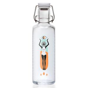 Soulbottle 'Soulsurferin' 0,6 l - Trinkflasche aus Glas  0,6 l - soulbottles