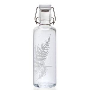 Soulbottle 'Silberfarn' 0,6 l - Trinkflasche aus Glas   - soulbottles