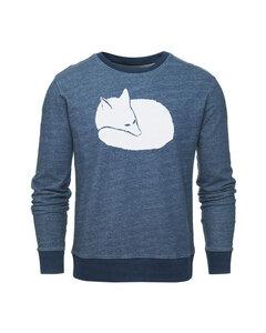 Fuchs Round Neck Herren Sweater / Indigo - ilovemixtapes