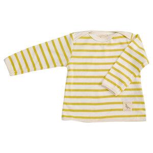 Langarmshirt gelb gestreift GOTS - pigeon