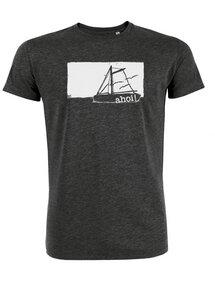 Biofaires Herren T-Shirt mit Ahoi 2.0 Motiv _ dark grey meliert - ilovemixtapes