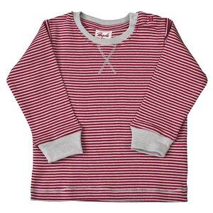 Langarmshirt rot/grau geringelt - People Wear Organic