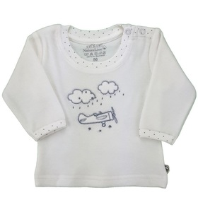 Baby Langarm Nicky Shirt natur Bio Baumwolle - EBi & EBi