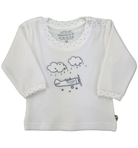Baby Langarm Nicky Shirt Natur Bio Baumwolle