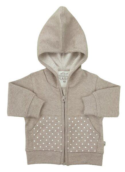 Baby Kapuzen-sweatjacke Beige Melange Bio Baumwolle