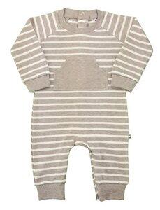 Baby Overall beige melange Bio Baumwolle - EBi & EBi