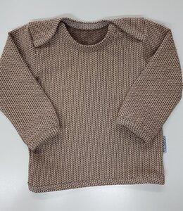 Babyshirt Knit-Knit beige-braun - Omilich