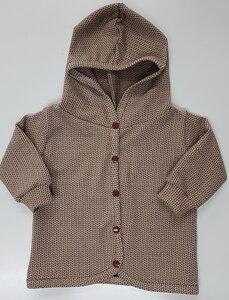 Babyjäckchen Knit-Knit beige-braun - Omilich