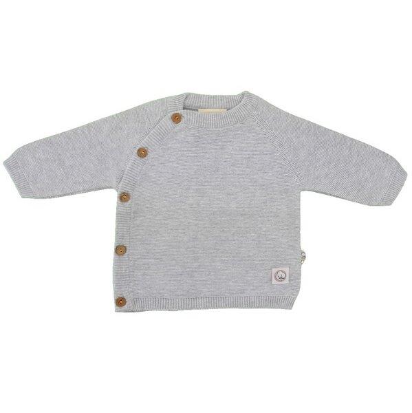 728f5b527c4e30 EBi   EBi - Baby Strick Wickelshirt grau Bio Baumwolle