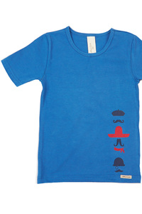 Fairtrade Jungen Shirt 2er Pack, blau - comazo|earth