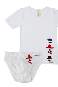 Fairtrade Jungen Set, weiß - comazo|earth
