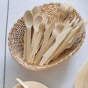 Bambus Löffel - Veneerware Spoons im 6er, 12er oder 24er Set - Bambu