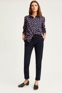 V&A Seed Print Shirt Navy - People Tree