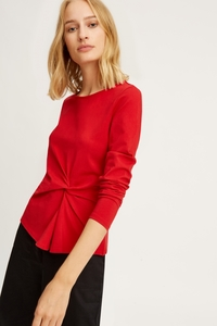 Simone Twist Top Red - People Tree