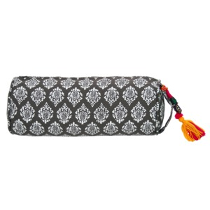 Lotus Design® Nackenrolle NEU RAJA -Beige-Grau - Länge 33 cm Durchm. 12 cm - Lotus Design®