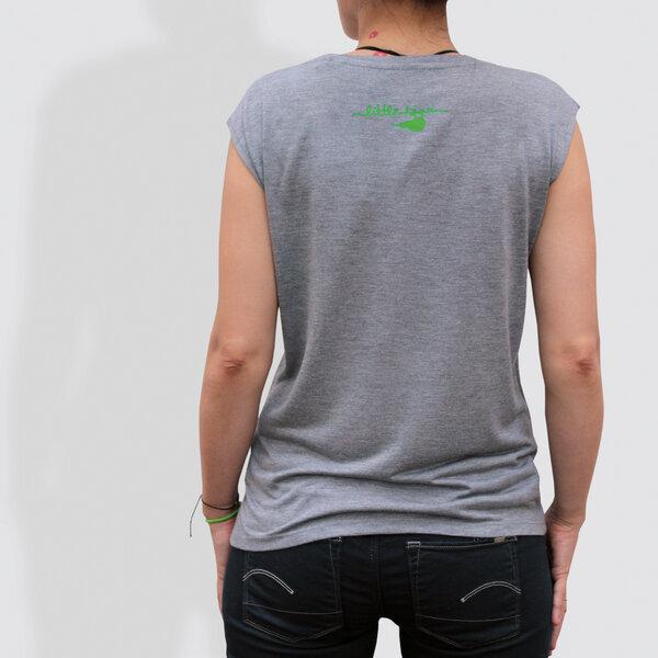8037c8a994df little kiwi - Damen T-Shirt ohne Ärmel, Down under, Mid Heather Grey    Avocadostore