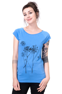 Bio-& Fair-Trade-Frauenshirt 'Schierling' hellblau - Hirschkind