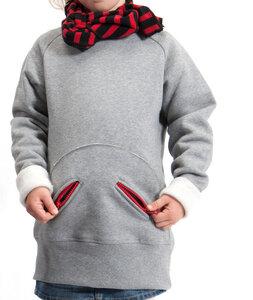 Sweatshirt langarm für Mädchen aus reiner Bio-Baumwolle kbA - green astronaut