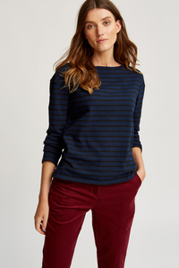 Gia Stripe Top Navy - People Tree