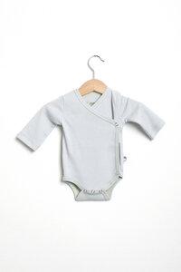 Baby Wickelbody langarm unisex aus reiner Biobaumwolle kbA - green astronaut