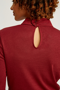 Caroline Top Burgundy - People Tree