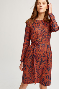 Anita Dress Navy - People Tree