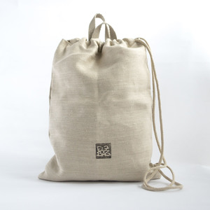 Turnbeutel 100% Hanf, Natur, made in Berlin - ELZBAG
