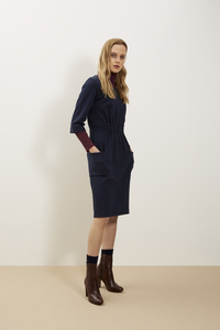 Virginia Dress Navy - People Tree